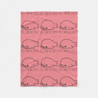 Happy Seal Pup Fleece Blanket