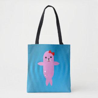 Happy seal tote bag