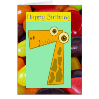 Happy seventh birthday 7th birthday turning seven card