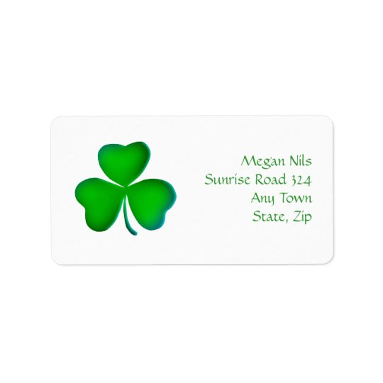 Happy Shamrock Address Label