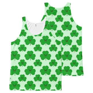 Happy Shamrock Cute St. Patrick's Day Tank Top