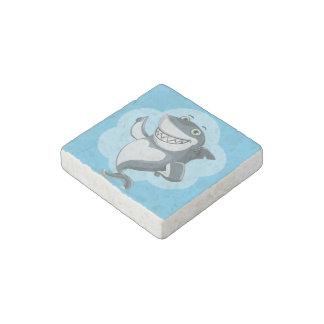 Happy shark stone magnets