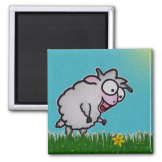 Happy Sheep Magnet