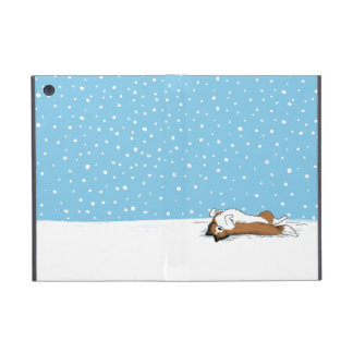 Happy Shetland Sheepdog in the Snow iPad Mini Case