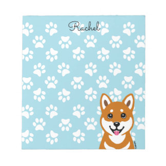 Happy Shiba Inu Cartoon notepad