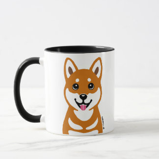 Happy Shiba Inu dog cartoon Mug