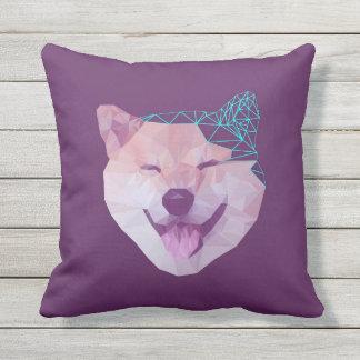 Happy Shiba Outdoor Pillow