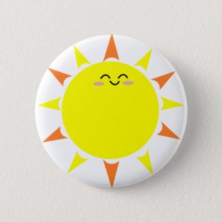 Happy Shining Sun 2 Inch Round Button