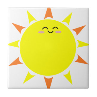 Happy Shining Sun Tile