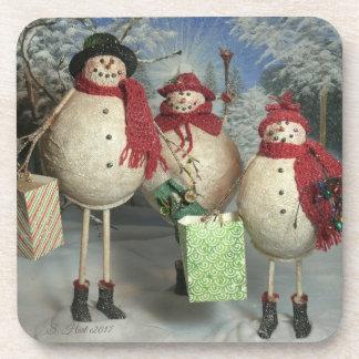 Happy Shoppers Coaster