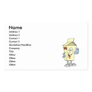 happy silly milk cartoon cartoon pack of standard business cards