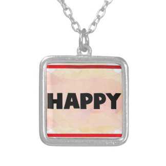 Happy Silver Plated Necklace