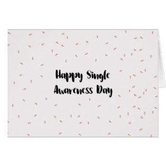 Happy single awareness day card