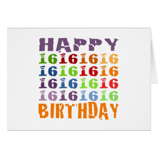 Happy Sixteenth Birthday! Card