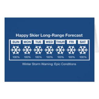 Happy Skier Forecast Card