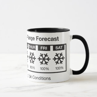 Happy Skier Forecast Mug