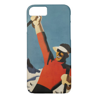Happy Skiing - vintage style iphone 7 case