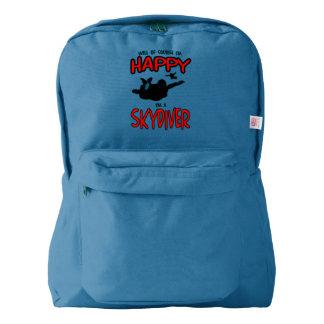 Happy Skydiver (blk) Backpack
