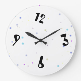 Happy Sleep - bell Dots Large Clock