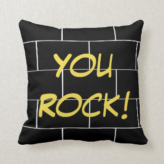 Happy Sleep - kissing You rock! Throw Pillow