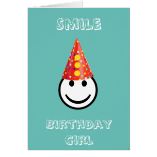 Happy Smile Birthday Girl Card