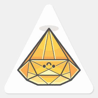Happy Smile Diamond Triangle Sticker