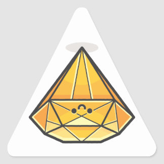 Happy Smile Diamond Triangle Sticker