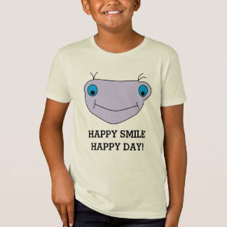 HAPPY SMILE HAPPY DAY Smiley Monster Face T-Shirt