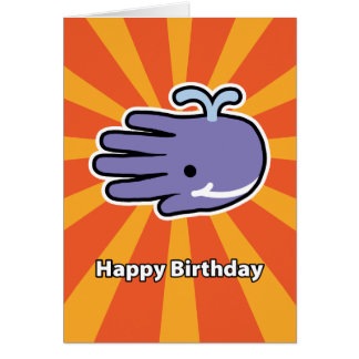 Happy Smile Whale Birthday Card