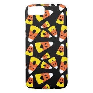 Happy smiley candy corn orange Halloween pattern iPhone 8/7 Case