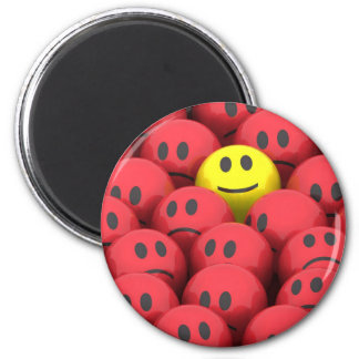 Happy Smiley Cartoon Magnet