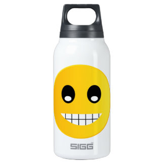 Happy smiley emoticon insulated water bottle