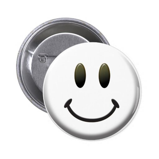 Happy Smiley Face Pinback Buttons