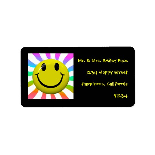 Happy Smiley Face Labels