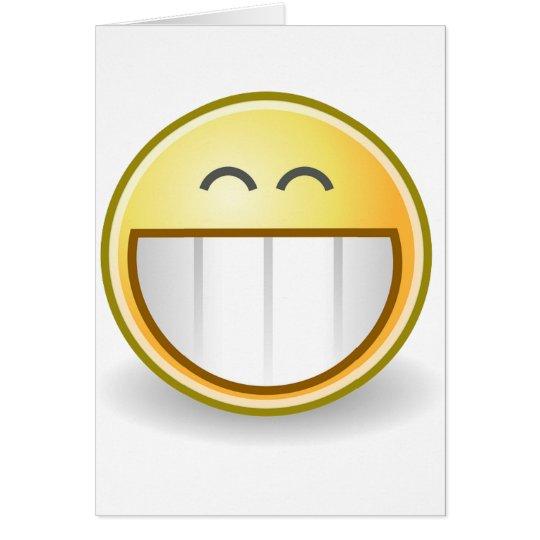 Happy Smiley Face Pattern Office Peace Destiny Card