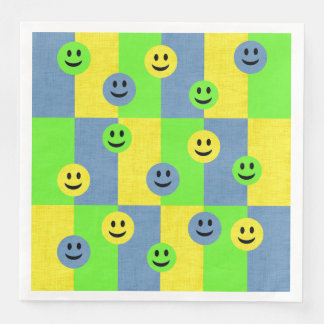 Happy Smiley Faces Emoji Paper Napkins