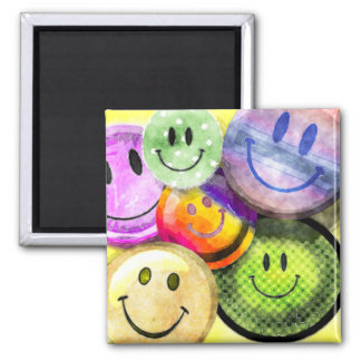 HAPPY SMILEY FACES Magnet