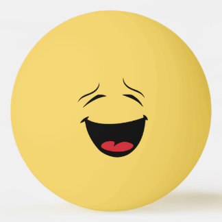 Happy Smiley Ping Pong Ball
