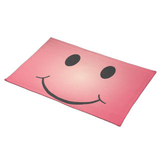 Happy smiley placemat