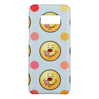 Happy Smiley & Polka Dots Customize Background Case-Mate Samsung Galaxy S8 Case