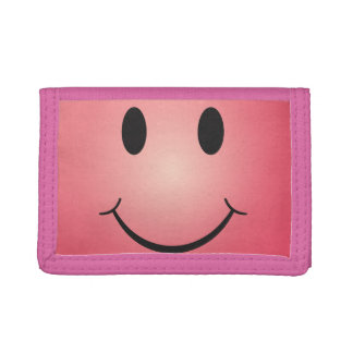 Happy smiley tri-fold wallet