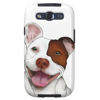 Happy Smiling Pitbull Galaxy S3 Covers
