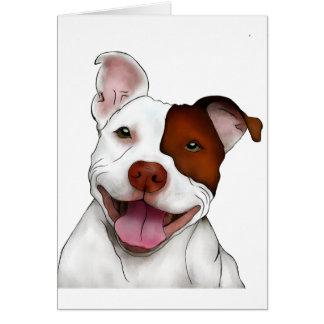 Happy Smiling Pitbull Greeting Card