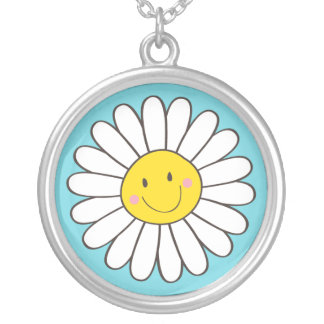 Happy Smiling Whimsical Daisy Pendant