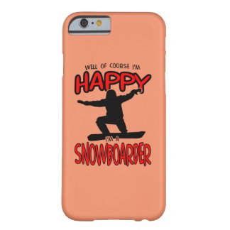 Happy SNOWBOARDER (Black) Barely There iPhone 6 Case