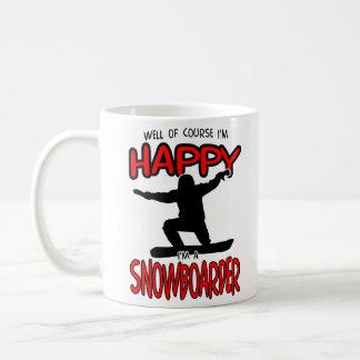 Happy SNOWBOARDER (Black) Coffee Mug