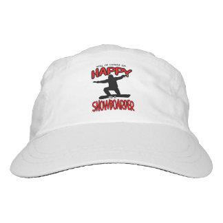 Happy SNOWBOARDER (Black) Headsweats Hat