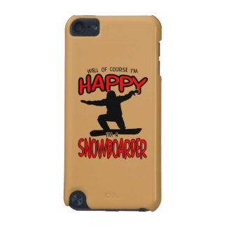 Happy SNOWBOARDER (Black) iPod Touch (5th Generation) Case