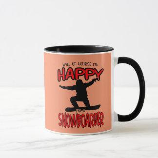 Happy SNOWBOARDER (Black) Mug