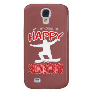 HAPPY SNOWBOARDER in WHITE